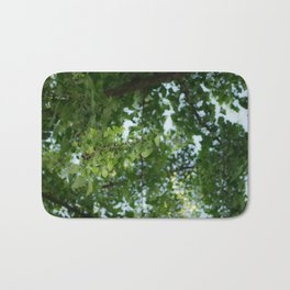 Ginkgo biloba tree in the city Bath Mat