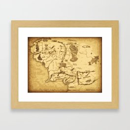 middleearth Framed Art Print