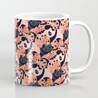 pandas Mugs featuring Somos Pandas by Pamku
