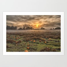 Pumpkins At Dusk Art Print