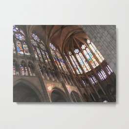 Choir of the Cathedral of Saint Denis Metal Print