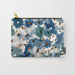 Georgia Floral Blue Carry-All Pouch