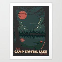 Visit Camp Crystal Lake Art Print