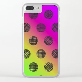 DP037-4 rainbow dotted Clear iPhone Case