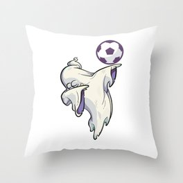 Funny Football Soccer Mom Fan Ghost Game T-Shirt Throw Pillow
