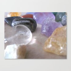healing stones.. the new currency Canvas Print