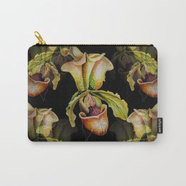 Paphiopedilum Orchids, Lady's Slipper Watercolor Carry-All Pouch