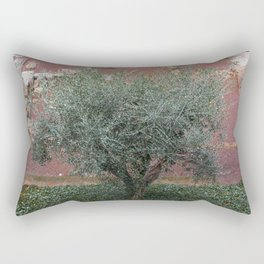 Rome, Olive tree in the Park Rectangular Pillow