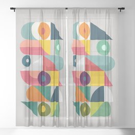 Tick Tock Machine Sheer Curtain