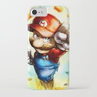 super mario iPhone & iPod Cases featuring Super Mario by markclarkii