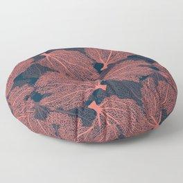 Fan living coral Floor Pillow