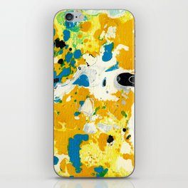 Marble Ink in Black White Blue Yellow Green iPhone Skin