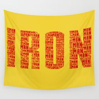 ironman Wall Tapestries featuring IRONman  by Kramcox