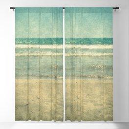 Seascape Vertical Vintage I Blackout Curtain
