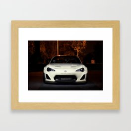 A Demon In The Dark Framed Art Print