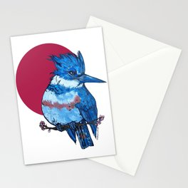 L'il Lard Butts Rising Sun Belted Kingfisher Stationery Cards