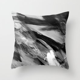 Abstract Artwork Greyscale #1 Throw Pillow