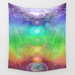 Chakra Activation Geometry Template Wall Tapestry