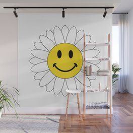Happines Sunflower Wall Mural