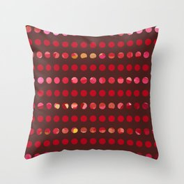 Pink Circles-a-Plenty Throw Pillow
