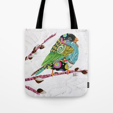 Cafe Swirly Bird. Candy Colored Edition Tote Bag