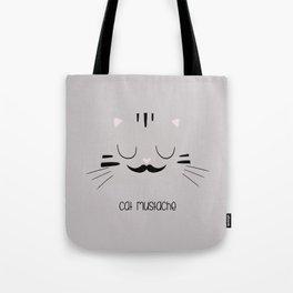 cat mustache Tote Bag