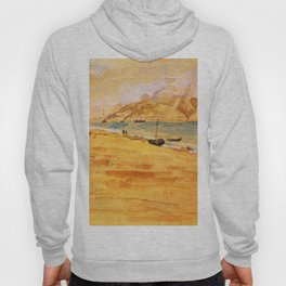 Study For Mouth Of The River 1877 By James Mcneill Whistler   Reproduction Hoody