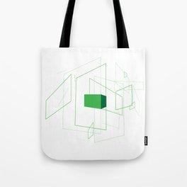 Blueprint #1 (green) Tote Bag