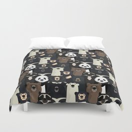 Bears of the world pattern Duvet Cover