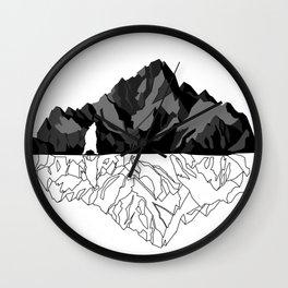 Mountains Bear Wall Clock