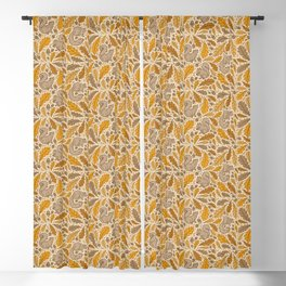Oak & Squirrels | Autumn Yellows Palette Blackout Curtain