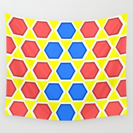 colourful hexagons Wall Tapestry