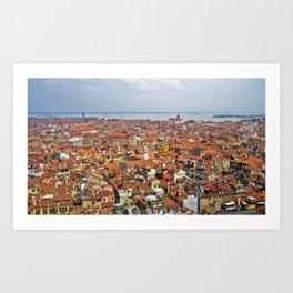 Venice Rooftops Art Print