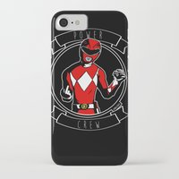 power ranger iPhone & iPod Cases featuring Power Crew Red Ranger by zombieCraig by zombieCraig