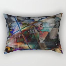 Many Faces in Time Rectangular Pillow
