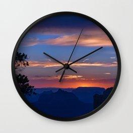 Colorful Sunset - North_Rim, Grand_Canyon, AZ Wall Clock