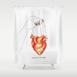 Heart Strings Shower Curtain