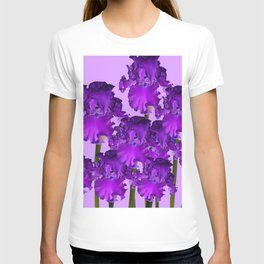 Contemporary Purple Iris Garden Art T-shirt