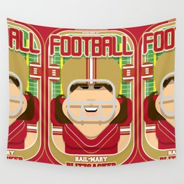 American Football Red and Gold - Hail-Mary Blitzsacker - June version Wall Tapestry
