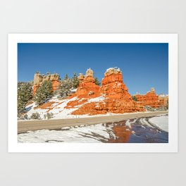 Entrance to Red Canyon, Utah, on Scenic Byway 12 Art Print