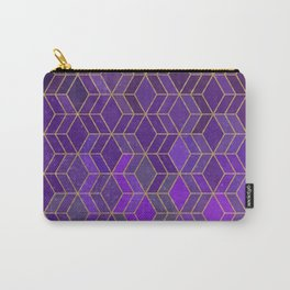 Purple gold galaxy gradient geometric pattern Carry-All Pouch