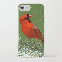 cardinal iPhone & iPod Cases featuring Cardinal by Janko Illustration