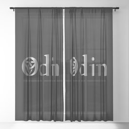 The symbol of the horns of Odin, a satanist symbol Sheer Curtain