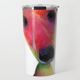 Nosey Dog Whippet Greyhound ' BERTA ' by Shirley MacArthur Travel Mug