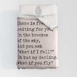 What if you fly? Erin Hanson Quote Comforters