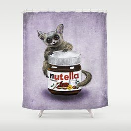 Sweet aim // galago and nutella Shower Curtain