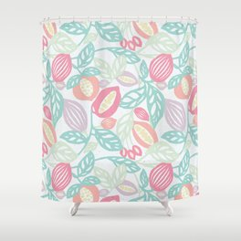 Pastel Fruits Shower Curtain