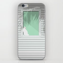 Mint and cat iPhone Skin