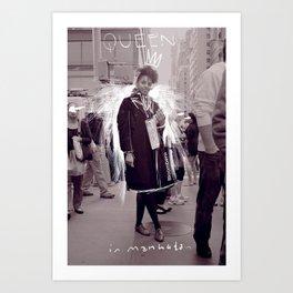 Queen in Manhattan Art Print