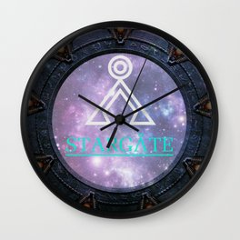 Milky way gate Wall Clock